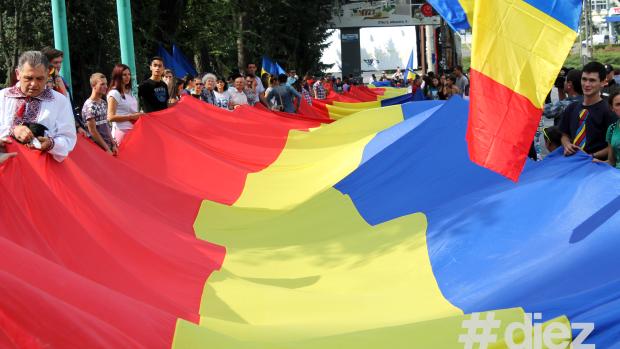 (video) Chișinău: De ziua Națională a României va fi desfășurat 1 kilometru de tricolor