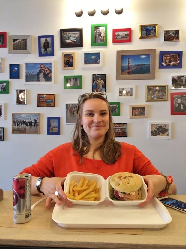 Anya din Ucraina, un alt client Hamburgeria. PC: Hamburgeria.nl