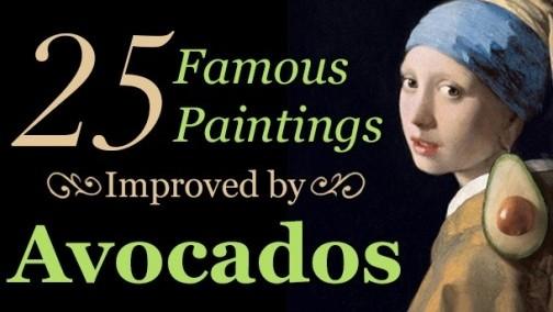 (foto) 25 picturi renumite în care apare un avocado