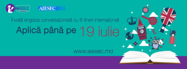 AIESEC Chișinău: Învață engleza conversațională cu șase tineri internaționali