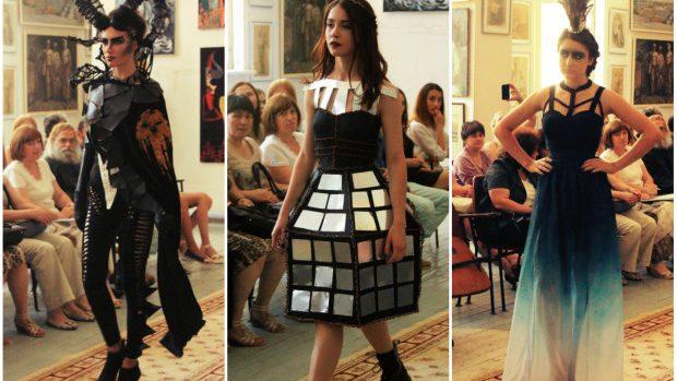 (foto) Elemente demonice și elegante în colecțiile de licență ale Colegiului de Arte, design vestimentar