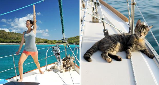(foto) Un cuplu a renunțat la joburi pentru a călători în jurul lumii pe o barcă