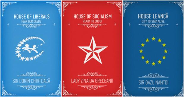 (foto) Alegerile Locale în stil Game of Thrones: Tu ce casă susții?
