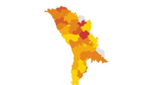 (infografic live) Rata participării la vot în toate raioanele din Moldova în turul II