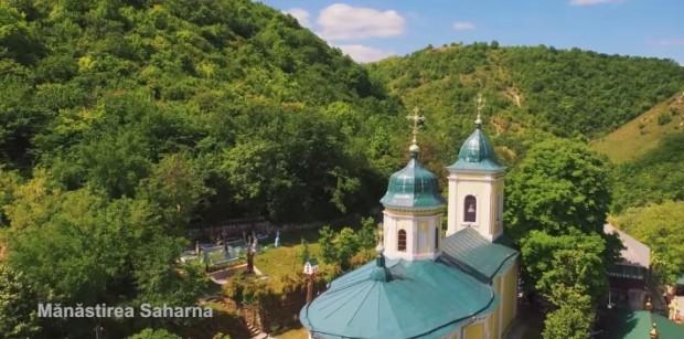 Mănăstirea Saharna. PC: captură foto YouTube