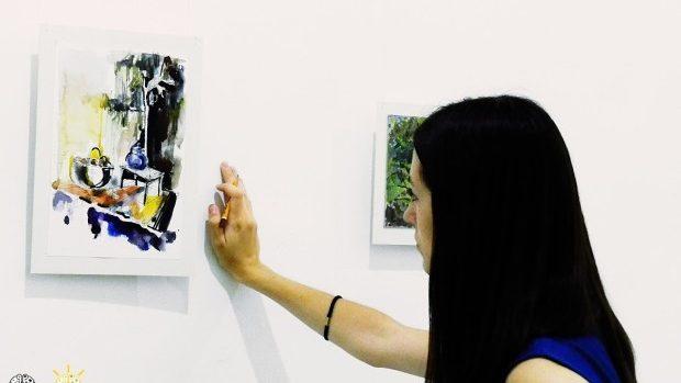 (foto) Moment grafic de la tânăra artistă Lena Bocancea la galeria Mg12