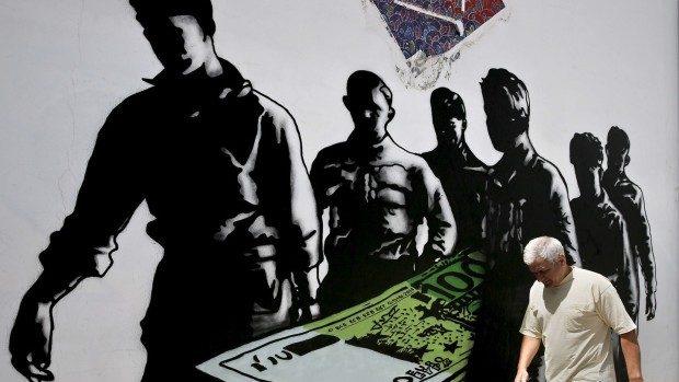 (foto) Street Art care denotă dificultățile financiare ale oamenilor din Grecia