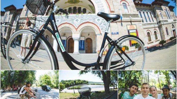 (foto) Chișinăul văzut de pe bicicletă – experiență de neuitat pentru prietenii de peste hotare
