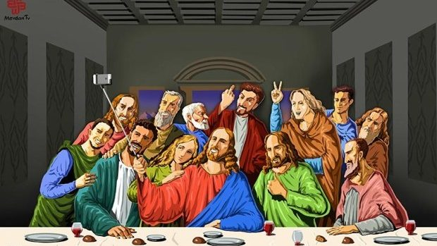 """(foto) Fenomenul """"selfie"""" a depășit limitele. Cum arată acesta în ilustrații religioase"""