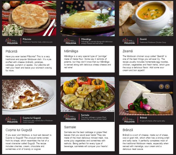 """Meniul provizoriu al restaurantului """"Moldova"""""""