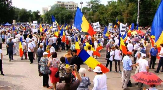 Participanții Marii Adunări Naționale au pornit pe jos spre București la Marșul lui Ștefan cel Mare