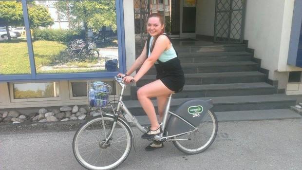 (foto) Cristina Postolachi: În Ljubljana, capitala Sloveniei, sunt 32 de stații de biciclete