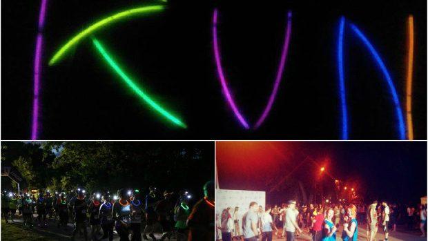 (foto) Cum au văzut internauții cursa de alergat Night Run în Parcul Valea Morilor