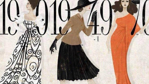 (foto) Ilustrații ce reflectă moda vestimentației feminine a secolului XX