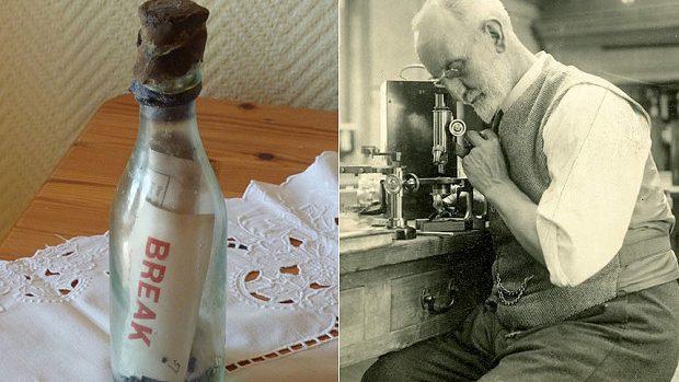 (foto) Cel mai vechi mesaj dintr-o sticlă plutitoare pe mare a fost găsit după 108 ani