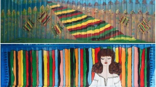 (foto) Elemente folcorice și Mândra lui Mihu din nou pictate pe stațiile din Ialoveni