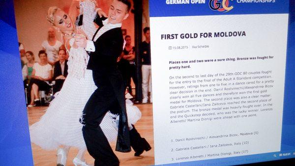 Medalii de aur și bronz pentru dansatorii din Moldova la Campionatul de dans din Germania