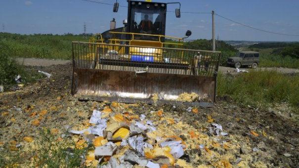 Rusia a distrus 220 de tone de produse alimentare puse sub embargo