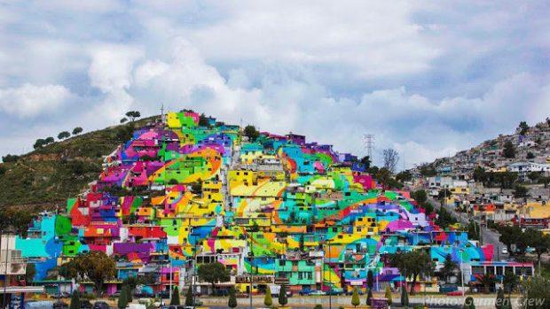 (foto,video) Graffiti pe 200 de case pentru regenerarea comunității în Mexic