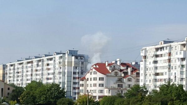 Incendiu la Ciocana. Un apartament de la etajul patru al unui bloc a luat foc