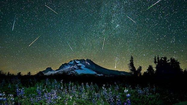 (foto) Cum s-a văzut ploaia de stele în fotografiile de pe rețelele de socializare