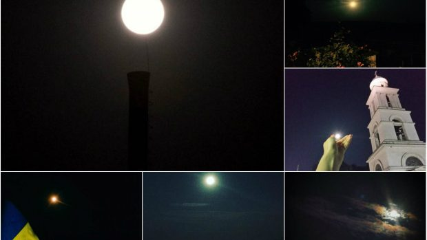 (foto) Cum au văzut locuitorii Moldovei Super Luna Plină din această noapte