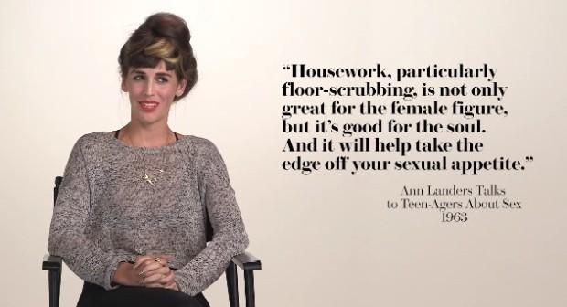 (video) Cum reacționează femeile la sfaturile despre sex din istorie