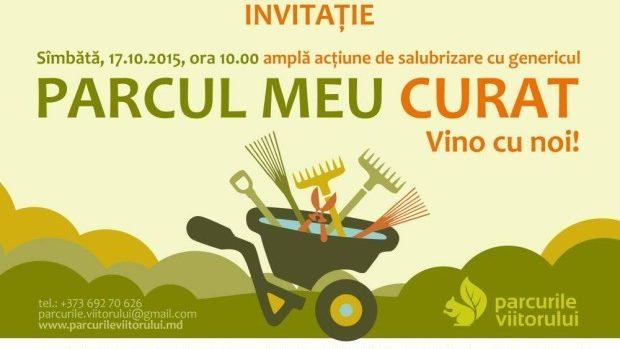 Alătură-te acțiunii de salubrizare a parcurilor din Chișinău