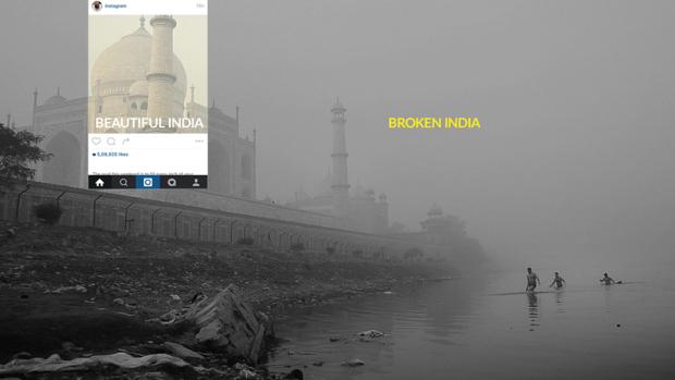 """(foto) """"Broken India"""" – proiectul ce ne arată realitatea din spatele fotografiilor din călătorii"""