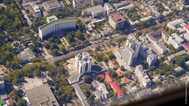 (foto) Centrul Chișinăului, văzut de la înălțimea zborului de pasare