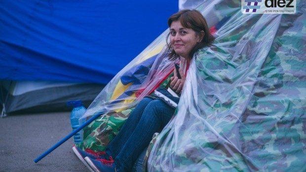 """(foto) A șasea zi de protest a """"Orășelului Demnității"""". Cum a decurs ziua în PMAN"""