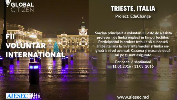 Tinerii din Moldova pot merge în Italia sau Polonia într-un program internațional de voluntariat