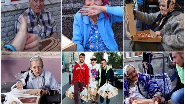 (video) Gest emoționant al unui tânăr vlogger din Moldova! A împărțit pizza oamenilor nevoiași