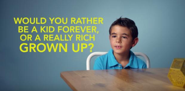 (video) Experiment: Ce aleg copiii, să fie fericiți sau bogați?