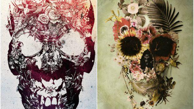 (foto) Conceptul craniului reinventat în creațiile unui artist grafician din Turcia