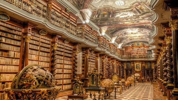 (foto) Cea mai frumoasă bibliotecă din lume se află la Praga, Republica Cehă