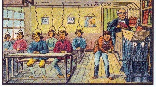 (foto) Ilustrații din 1900 care dezvăluie cum se credea că va fi viața în 2000