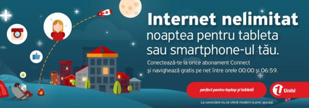 Internet nelimitat noaptea – gratuit! Navighează liber cu noile abonamente de la Unite