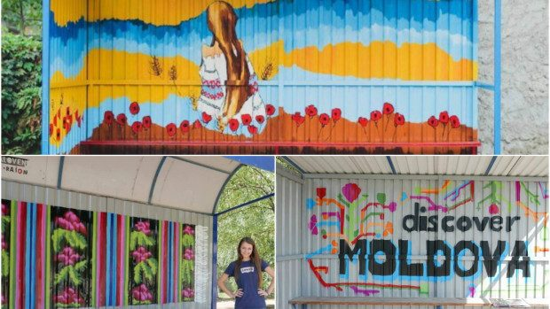 (foto) Descoperă 29 de stații din Ialoveni, care au prins culoare sub pensula voluntarilor