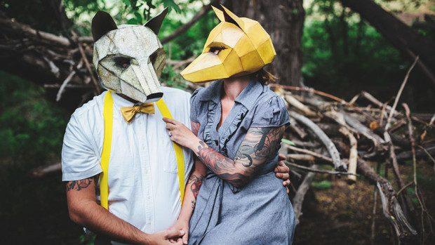 (foto) Creează o mască de hârtie pentru a avea un costum de Halloween original