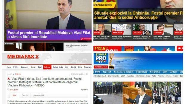 (foto) Cum a fost văzută reținerea lui Vlad Filat în presa internațională