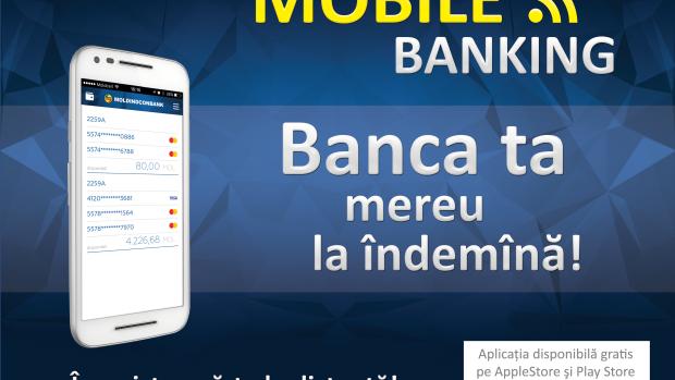 Acum ai acces la card de pe smartphone cu Mobile-Bankingde la Moldindconbank!