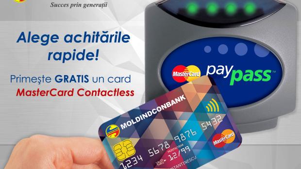 Alege achitările rapide cu cardurile MasterCard Contactless de la Moldindconbank