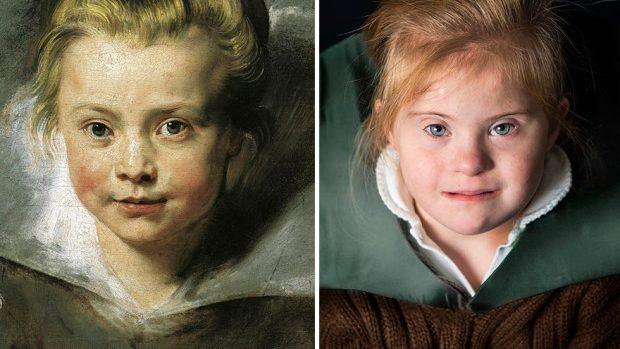 (foto) Copii cu sindromul Down recrează picturi faimoase