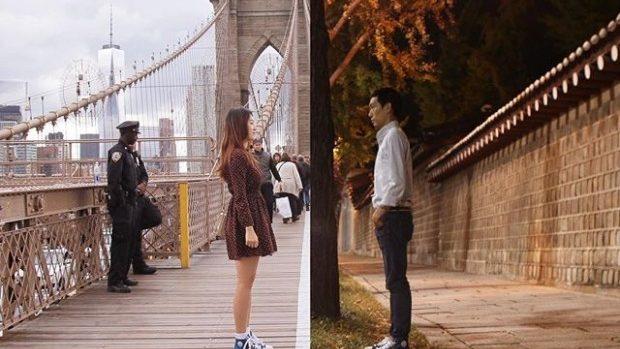(foto) De la Seul la New York! Un cuplu ce trăiește o relație la distanță a realizat un proiect emoționant