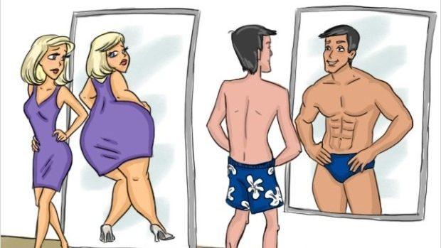 (foto) Diferențele dintre femei și bărbați în 14 ilustrații amuzante