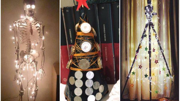 (foto) Cei mai inediți brazi de Crăciun improvizați de tinerii din Moldova în condiții casnice