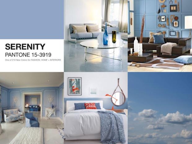 serenity - pantone -design