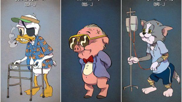 (foto) Cum ar arăta personajele preferate din desene animate la vârsta lor reală