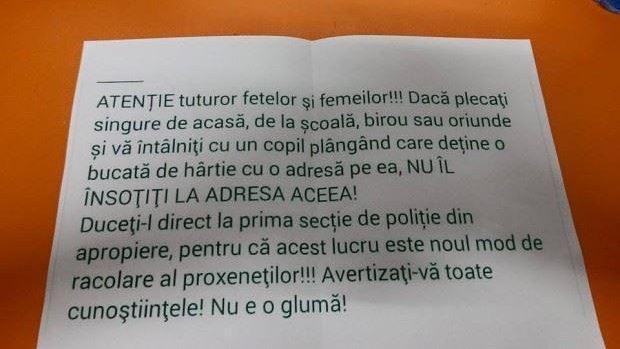 Un avertisment legat de disparițiile tinerilor din Moldova, devenit viral pe Facebook